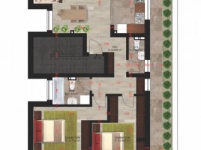 Penthouse 3 camere-Terasa 73 mp-Cristalului-Parcare-Toate utilitatile